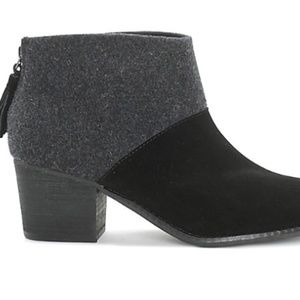 Toms Leila black wool and felt women boots